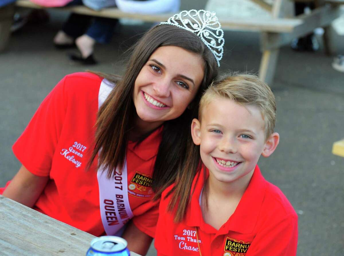 Barnum Festival Royal Family members Kelsey Coville, 16, and Chase Perrotta, 9, attend the Barnum Sails the Sound event at the Bridgeport Ferry Terminal in Bridgeport, Conn., on Saturday May 20, 2017. The event kicked off with a dockside picnic dinner starting at 5pm, with the sunset cruise at 7:15pm. The $60 ticket price included two free drinks on board, plus 2 FREE round-trip walk-on ferry tickets ($54 value) to use before 12/31/17. The What Up Funk Band performed during the ferry ride. Proceeds will benefit festival activities and student scholarships.