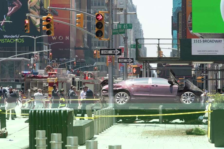 After Times Square attack, calls for more sidewalk barriers