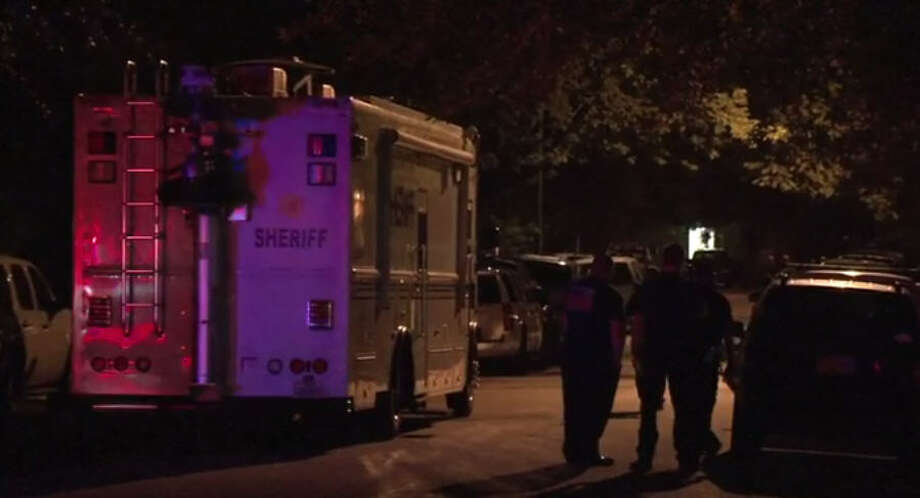 A SWAT team responded after a gun-wielding man barricaded himself inside a home. Photo: Metro Video