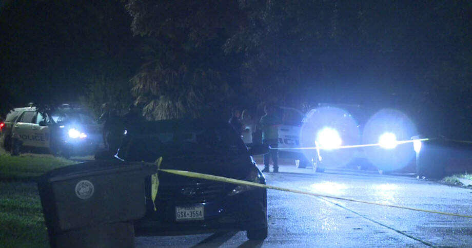 A father was shot in the head while picking up his son Sunday morning. Photo: Metro Video