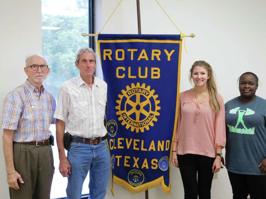 Members of the Cleveland Rotary Club were proud to welcome Savannah Litton, a Junior at Tarkington High School who is going to Japan this June as part of the Rotary Youth Exchange Short-Term Summer program for 3-4 weeks.  Savannah's lifelong dream has been to study in Japan, develop her Japanese language skills, and enhance her perspective on the world.  Upon her return, a young woman sponsored by a Japanese Rotary Club will be visiting us in Cleveland.  Rotary banners will be exchanged between the Cleveland club and the club in Japan.  Savannah is so proud of being a part of this connection between the countries.  Pictured (left to right):  Rotarian Tommie Daniel, Rotary Speaker Host James Leach, Rotary Exchange Student Savannah Litton Rotary President Eisha Jones. Photo: Submitted