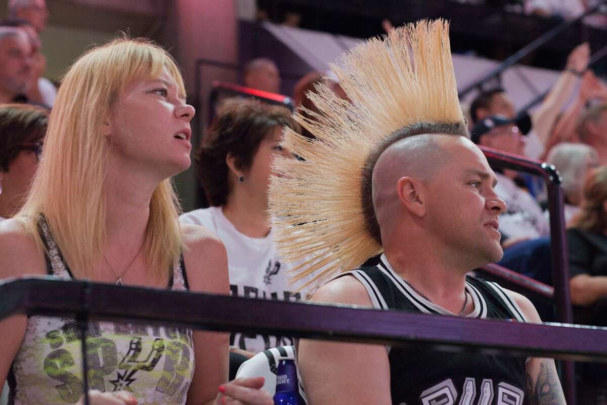There wasn't much to cheer about by the end of Game 3 of the Spurs Warriors series Saturday night, May 21, 2017, but before the game Spurs fans were all smiles.