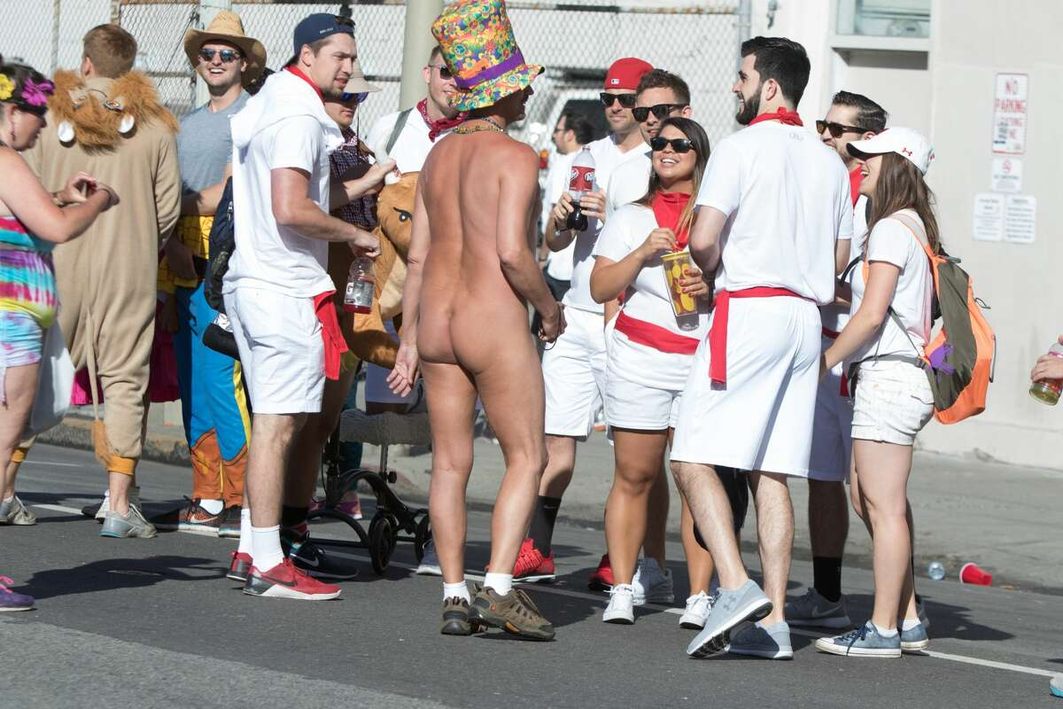 Nudity was everywhere at the 2017 Bay to Breakers in San Francisco on May 21, 2017.