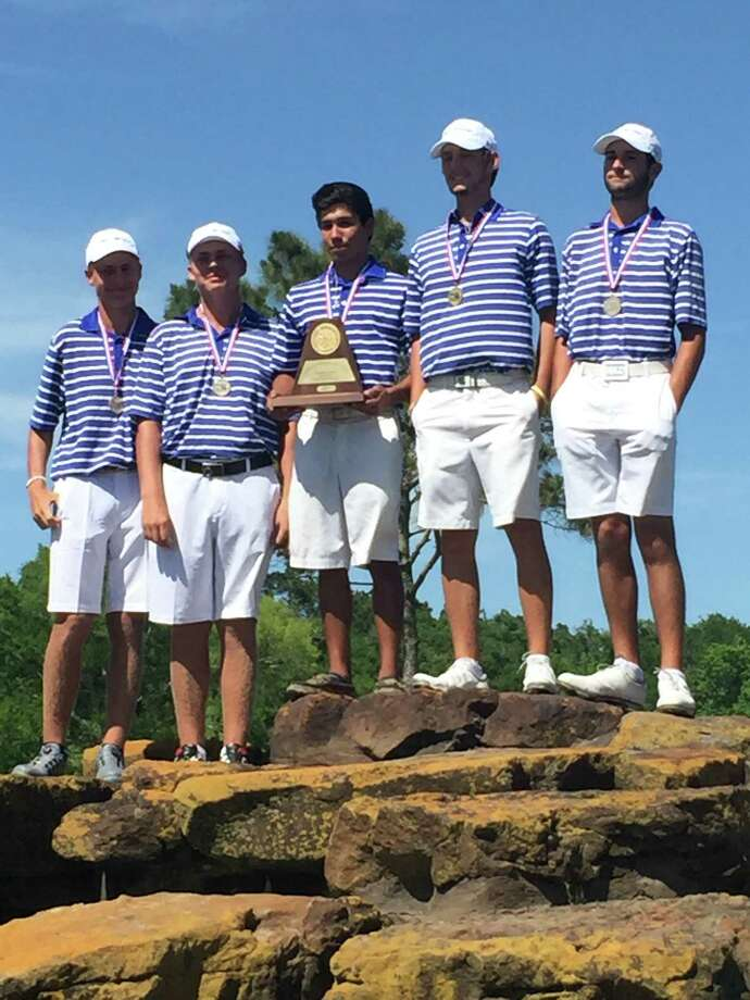The Clear Springs boys' golf team hopes to win a medal at the Class 6A state tournament Monday and Tuesday in Georgetown. Team members are (left to right) Francois Jacobs, Andre Jacobs, Alex Muniz, Alex Welch and Niko Nebout. Photo: Submitted Photo