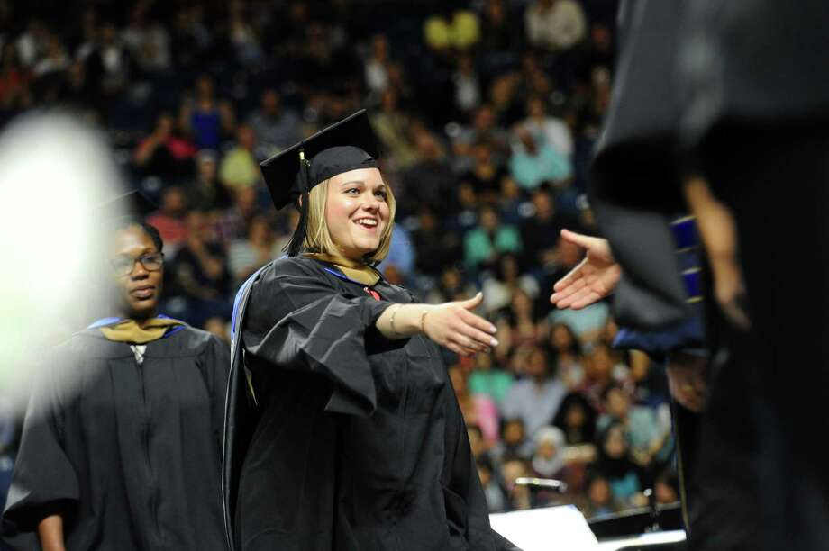 Photos from the Western Connecticut State University graduation inside Webster Bank Arena in Bridgeport, Conn. on Sunday, May 21, 2017. Photo: Michael Cummo, Hearst Connecticut Media / Stamford Advocate
