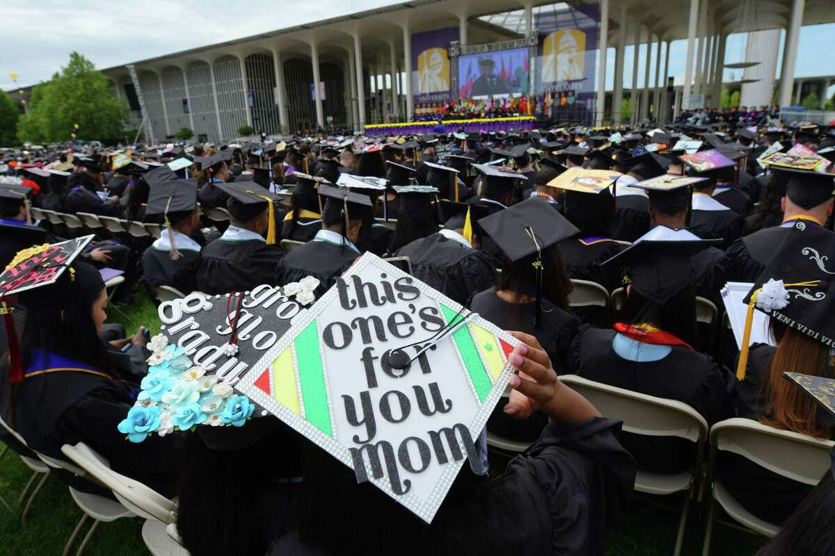 Click through the slideshow to view some of the best college graduation caps we spotted this year.