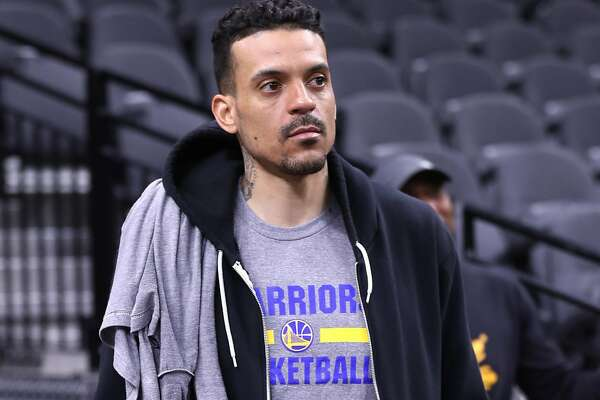 Golden State Warriors' Matt Barnes after practice during NBA Western Conference Finals at AT&T Center in San Antonio, Texas, on Sunday, May 21, 2017.
