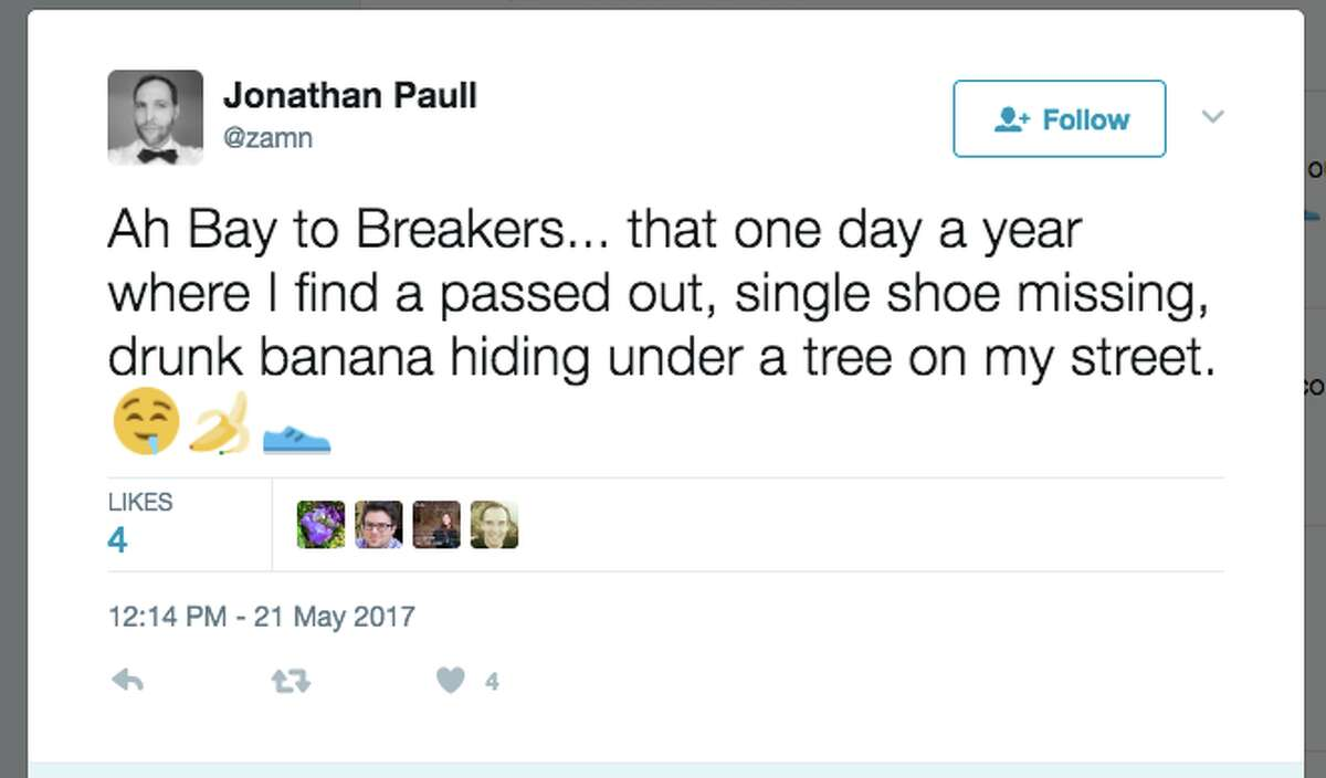 Love it or hate it, Bay to Breakers always leads to some of the funniest tweets about San Francisco.