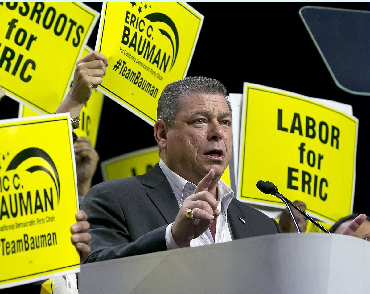 Eric Bauman was narrowly elected the new chairman of the California Democratic Party, to the disappoint of the progressive wing at the state party convention.