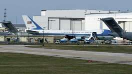 Air Force One sits at Boeing's maintenance facility at Port San Antonio in February. The same plane was involved in an April 2016 incident where three mechanics contaminated the plane's oxygen system, causing $4 million worth of damage.