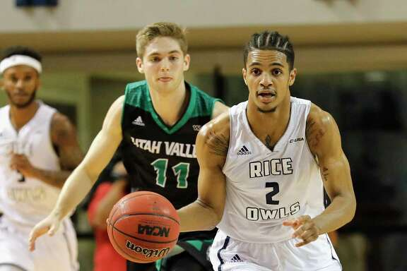 After leading Rice with 19 points per game last season, Marcus Evans (2), a Virginia native, followed former Owls coach Mike Rhoades to VCU.