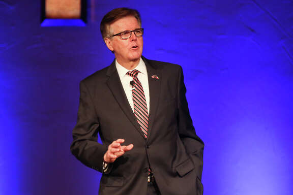 Lt. Gov. Dan Patrick speaks during the service on Sunday, May 21, 2017, at Woodlands Grace Church in The Woodlands.