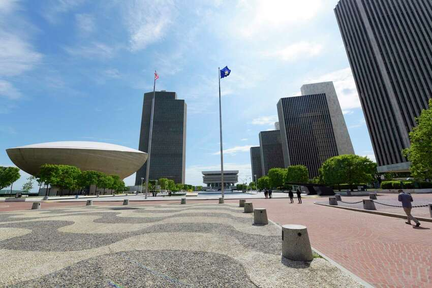 A view of the Empire State Plaza on Sunday, May 21, 2017, in Albany, N.Y. (Paul Buckowski / Times Union)