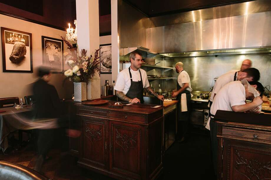 Teague Moriarty (center) and the kitchen staff at Sons & Daughters in S.F. Photo: Peter Prato, Special To The Chronicle