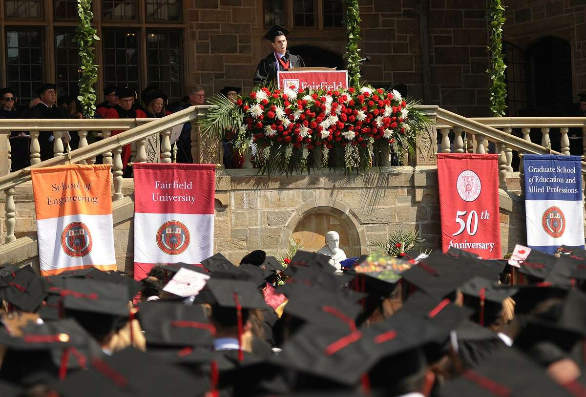 Fairfield University's Commencement exercises in Fairfield, Conn. on Sunday, May 21, 2017.