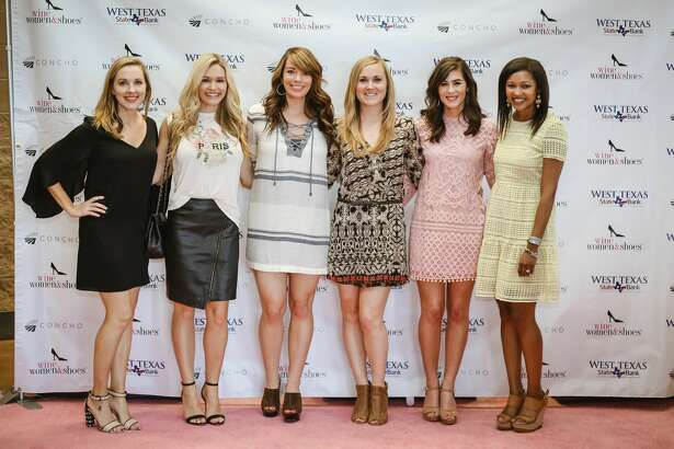 Shoes: Jennifer Sell, from left, Ashley Robbins, Eliza Cartwright, Laura Rose, Gina Wight and Jessica Rule