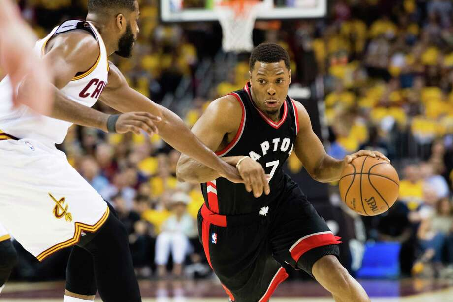 A great player but no superstar, Kyle Lowry is getting $100 million over three years to stay with the Raptors. Photo: Jason Miller / Getty Images / 2017 Getty Images