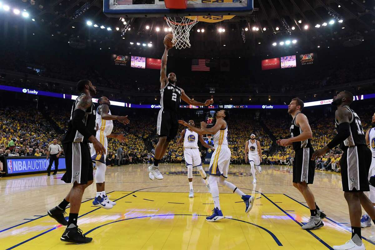 Kawhi Leonard's injury marred the first two games of this year's West finals.