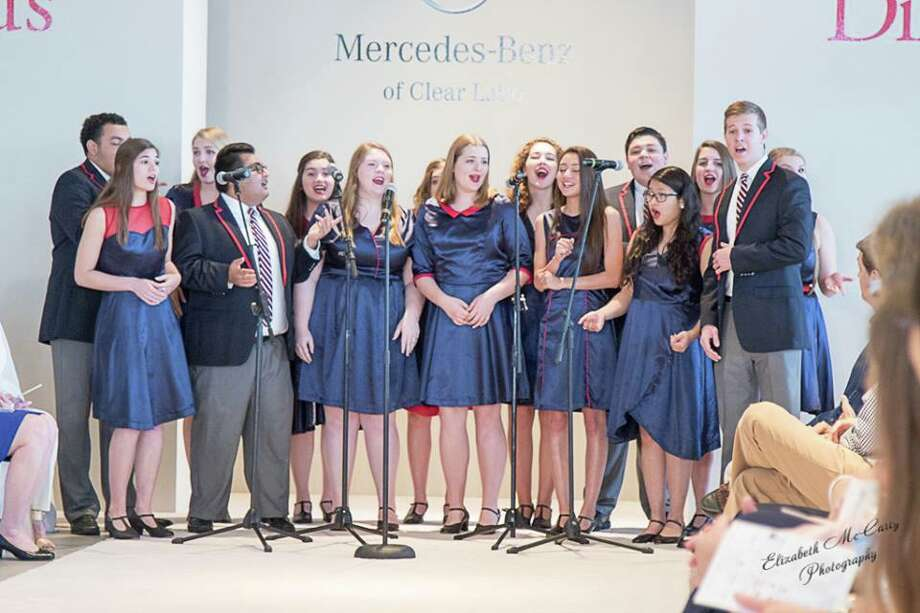 Clear Lake High School's Soundwaves led by Raul Dominguez performed at the Clear Creek Education Foundation's fashion show April 2. Photo: Elizabeth McCarty / Elizabeth McCarty 2016
