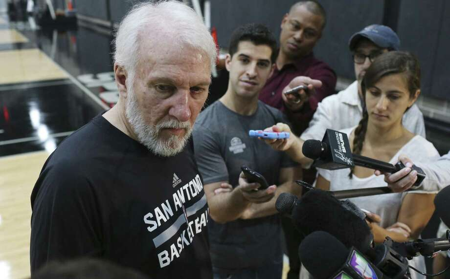 Gregg Popovich has five NBA title rings but can he get a sixth before retiring? Photo: Jerry Lara /San Antonio Express-News / © 2017 San Antonio Express-News