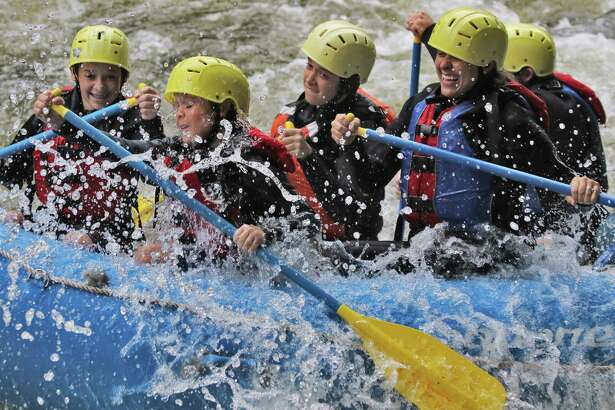 Get your adrenaline rushing while whitewater rafting in North Creek, where Square Eddy Expeditions are among several of the hamlet's rafting companies.