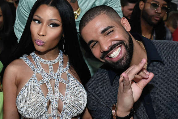 LAS VEGAS, NV - MAY 21:  Recording artists Nicki Minaj and Drake attend the 2017 Billboard Music Awards at T-Mobile Arena on May 21, 2017 in Las Vegas, Nevada.  (Photo by John Shearer/BBMA2017/Getty Images for dcp)