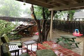 This reader-submitted photo shows wreckage in Laredo from the thunderstorm that occurred Sunday, May 21, in Laredo.