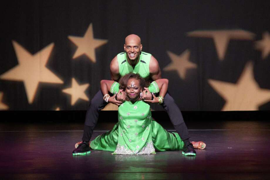 Dancing With The Stars Judges' Choice Award-winner, (Female Division) Sharon Jerry-Collins, and her professional dance partner, Billy Blanks, Jr.during their performance at Curtain Call's annual fundraiser held Saturday, May 20, 2017 in Stamford, Conn. Photo: Contributed Photo / Debra Lee Failla / Contributed / Greenwich Time Contributed