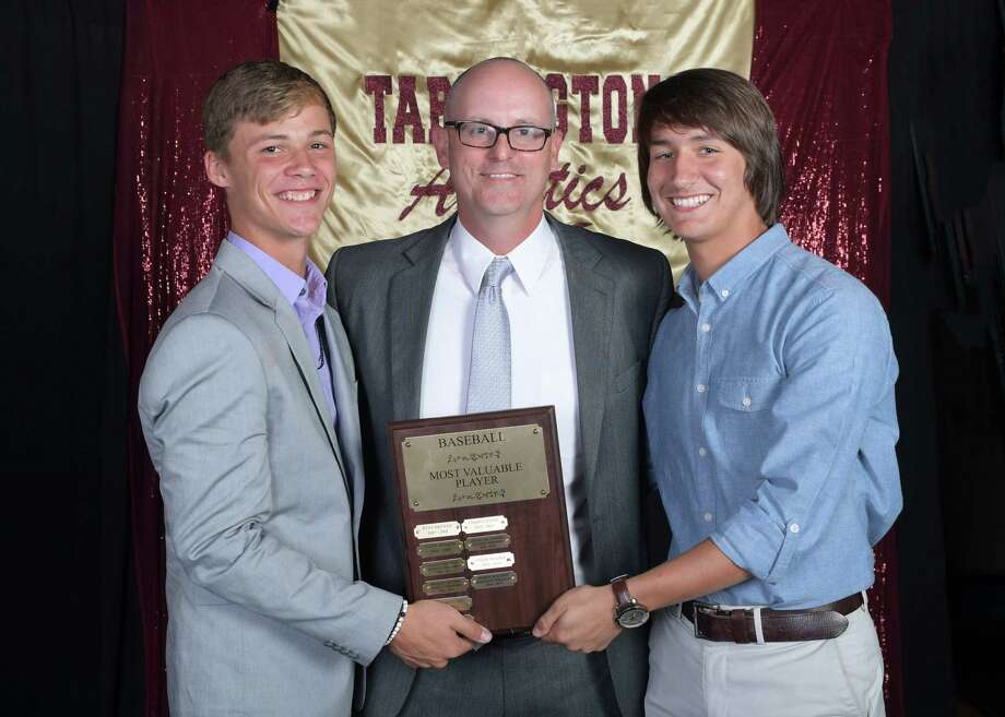 Sharing the title of MVP in baseball at Tarkington High School are George Molchan and Harrison Williams. Photo: Submitted