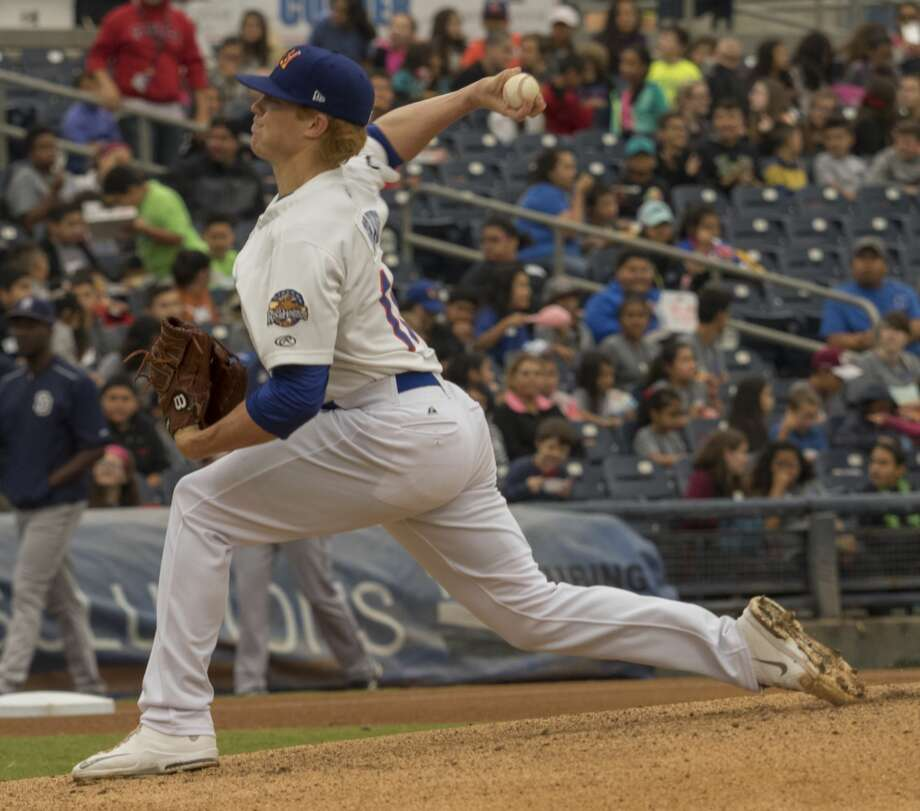 RockHounds' starting pitcher Brett Graves delivers a pitch 5/22/17 at Security Bank Ballpark against the San Antonio Mssions. Tim Fischer/Reporter-Telegram Photo: Tim Fischer/Midland Reporter-Telegram