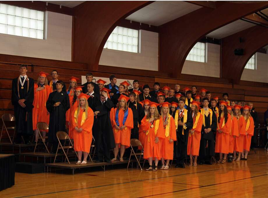 Ubly's Class of 2017 graduated Sunday. Photo: Brenda Battel/Huron Daily Tribune