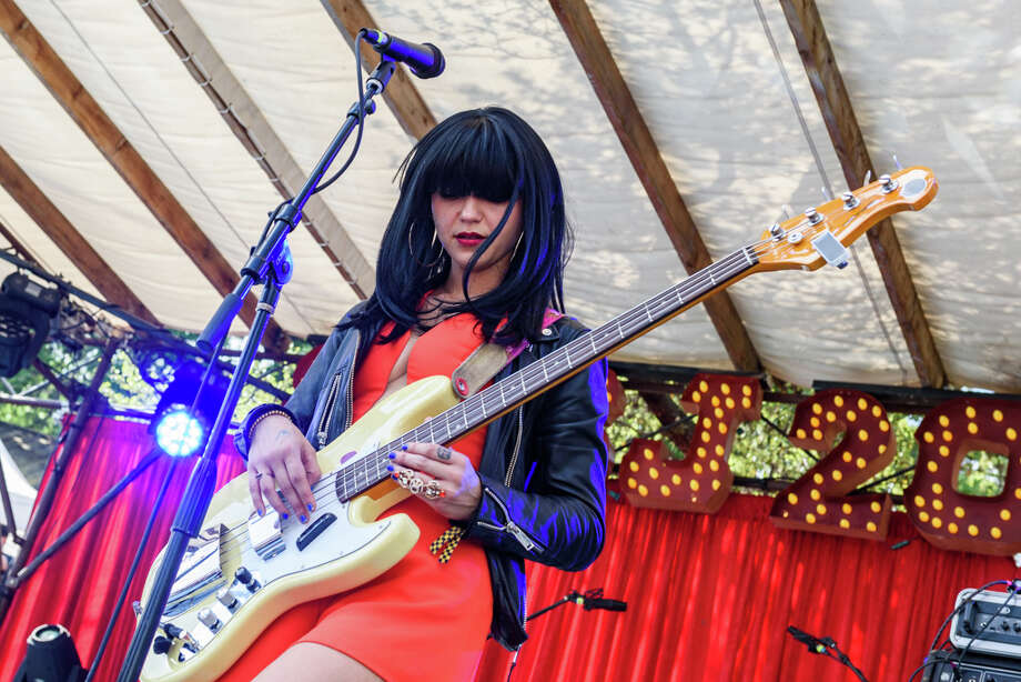 Khruangbin's Laura Lee performs during SXSW 2017 Photo: Jay Dryden // jaydrydenphoto.com