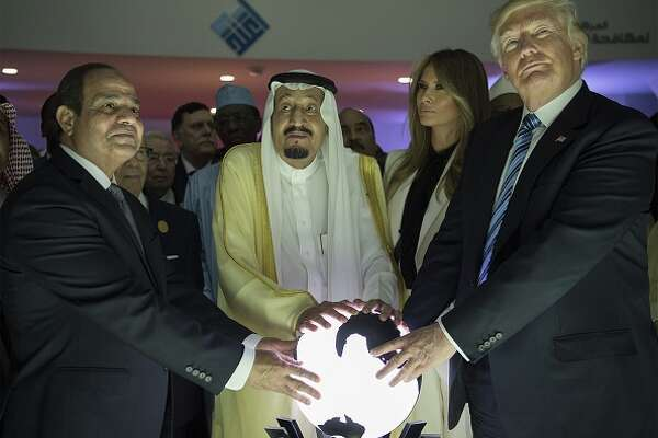 >>> BEST Twitter posts about President Trump touching an orb.  
