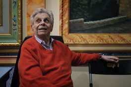 Mort Sahl at the Throckmorton Theatre in Mill Valley, Calif., on Thursday, November 5, 2015. Sahl is a San Francisco pioneer - father of both the city's vibrant comedy scene, and an innovator in the field of political comedy that John Stewart, Bill Maher and others now have made common. He began in the 1950s at the hungry i nightclub in San Francisco, and more than 60 years later continues to perform.