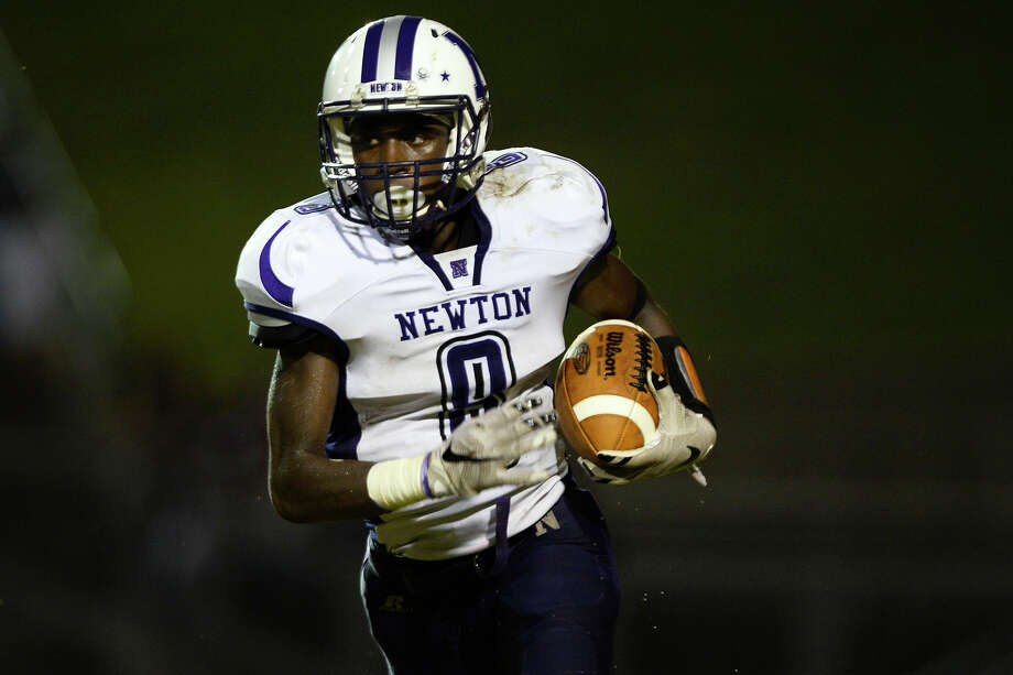Tamauzia BrownSchool: NewtonPosition: DB/WRNotes: On a team filled with standout players, Newton maybe the most impressive. He's compiled nine interceptions in six games and had a touchdown trifecta - passing, rushing and a receiving touchdown - last week against Garrison. The Eagles will look to move to 7-0 against Corrigan-Camden tomorrow. Photo: Ryan Pelham / ©2016 The Beaumont Enterprise/Ryan Pelham