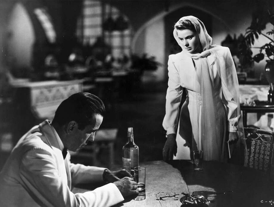 """Humphrey Bogart and Ingrid Bergman in a scene from """"Casablanca,"""" directed by Michael Curtiz for Warner Bros. Photo: Picture Post, Getty Images"""
