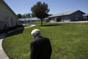 Michael Miller, Director of San Joaquin County�s Human Services Agency walks through the grounds during a Chronicle tour of Mary Graham Children's Shelter April 21, 2017 in French Camp, Calif.