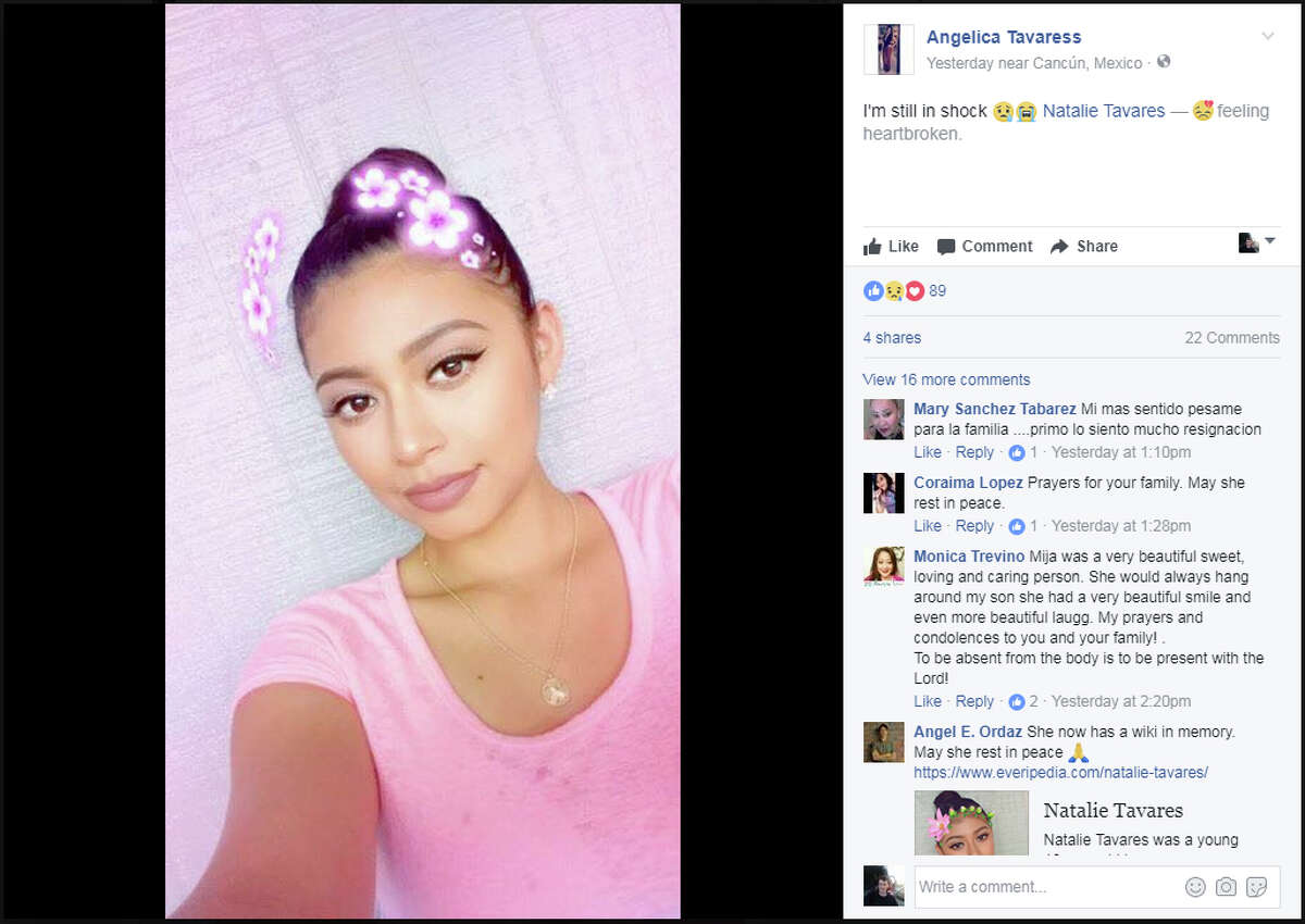 Tavares' Facebook profile has been turned into a memorial, where several of her friends have already left messages, including