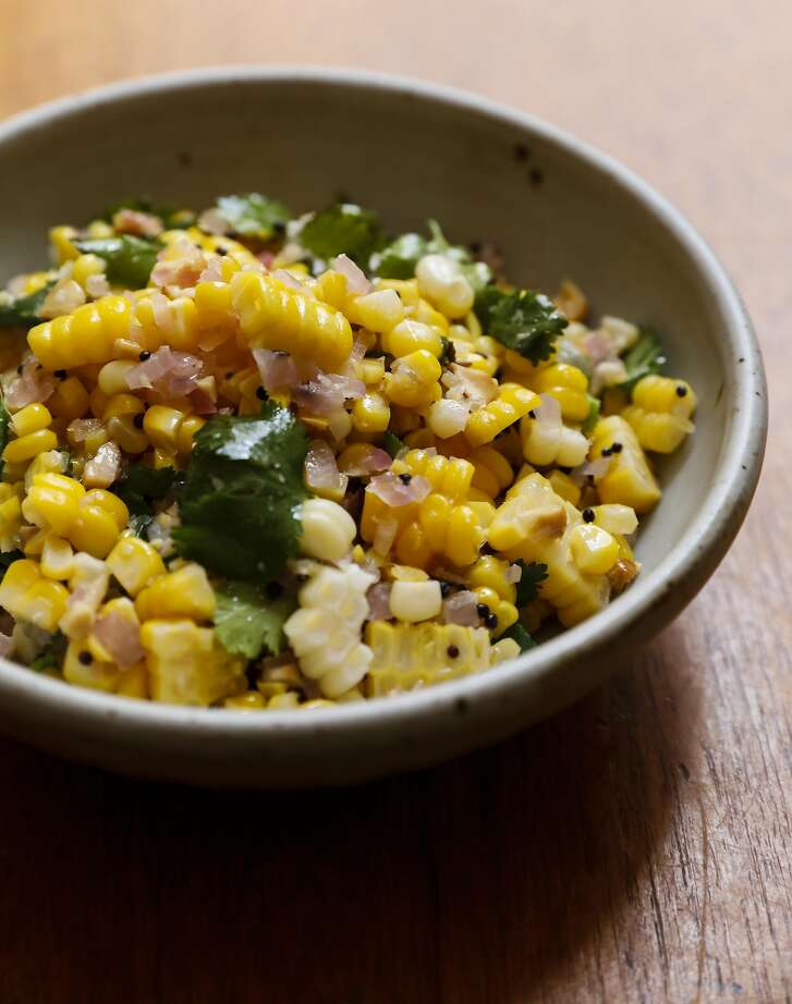 Dosa's South Indian Summer Corn Salad is seen on Monday, May 22, 2017 in San Francisco, Calif.
