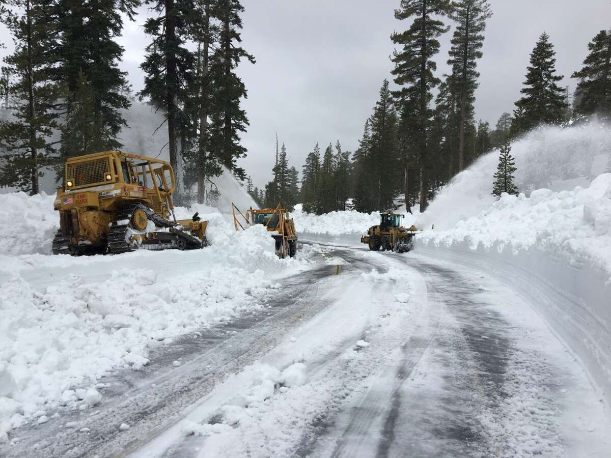 Driving over Tioga Pass: Yosemite access from Tioga Pass may not be open until July as Caltrans Crew work to clear snow from Tioga Road, which connects Yosemite with Highway 395. The route is typically open the Friday before Memorial Day weekend, but after a winter with record snowfall, Yosemite spokesperson Jamie Richards thinks the earliest it could open is late June.