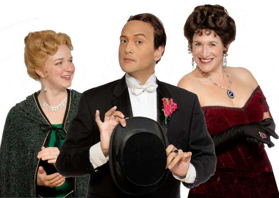 Actors Heather Kellogg (left), DC Scarpelli and Dana Lewenthal. Photo: Stu Selland, Town Hall Theatre