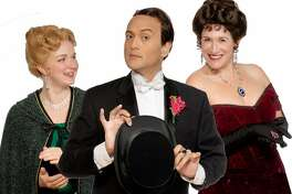 From left: Heather Kellogg, DC Scarpelli and Dana Lewenthal in Town Hall Theatre�s �An Ideal Husband.�