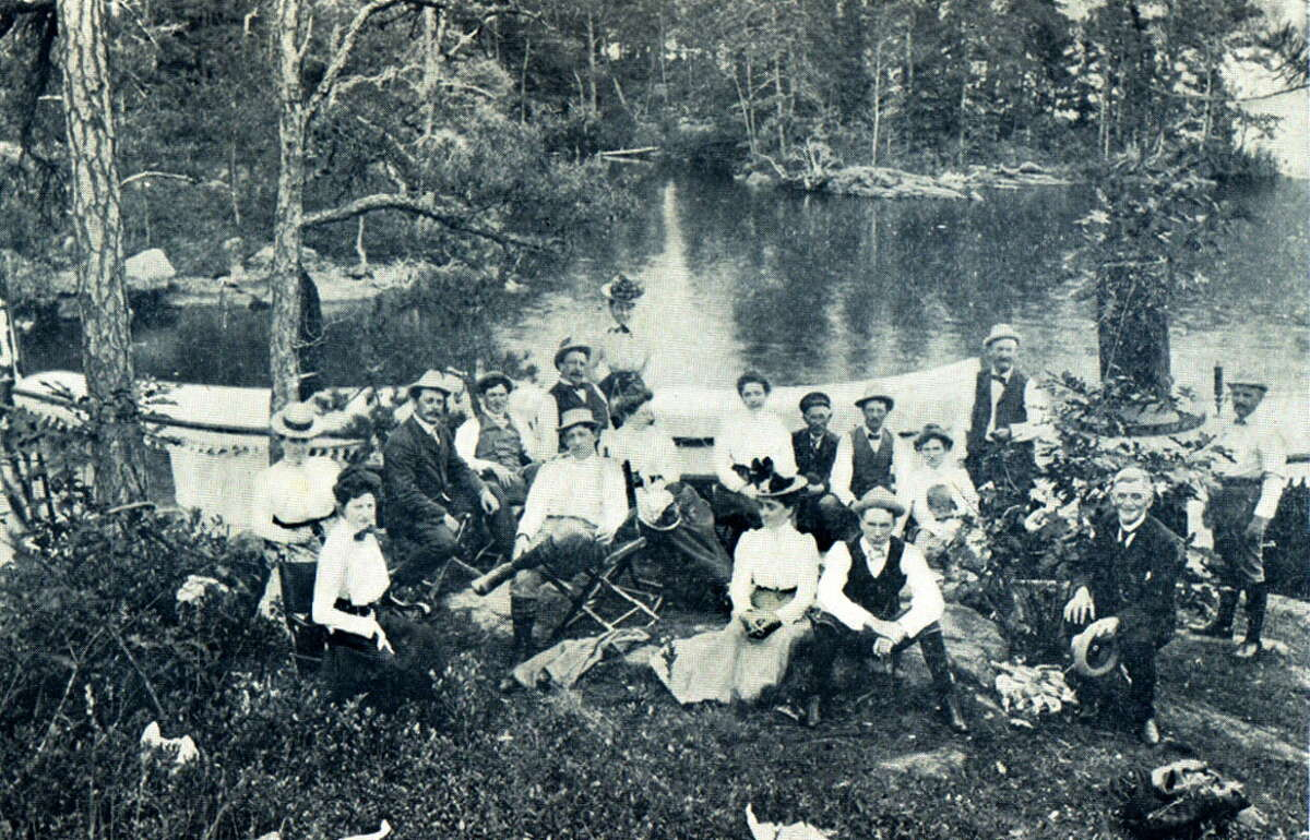 Click through the slideshow to see Lake George through the years. Undated hand out photo of a party of guest of the Worden in Lake George, NY, on one of the islands.