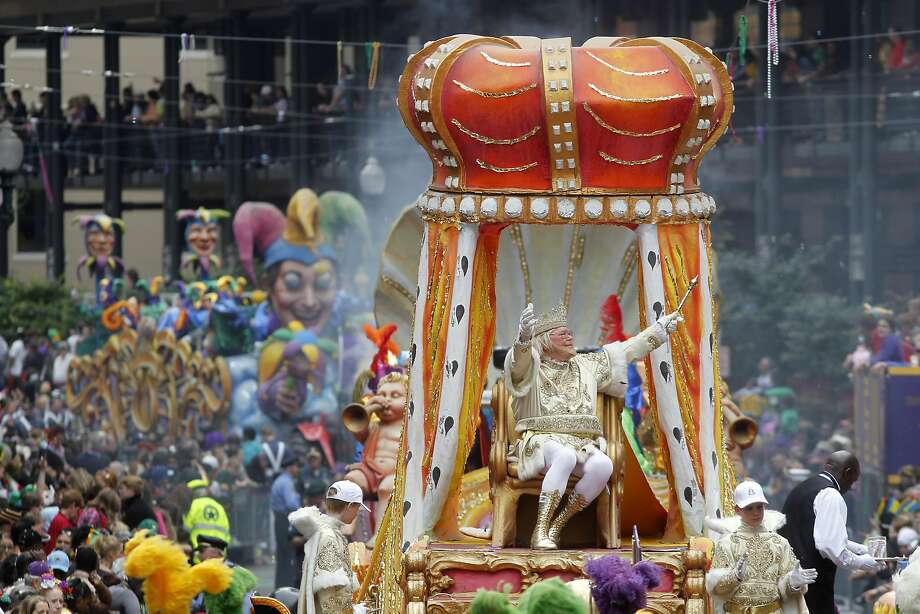 FILE - In this March 8, 2011, file photo, Rex, the King of Carnival rides in the Krewe of Rex as he arrives at Canal St. on Mardi Gras day in New Orleans. New Orleans is entering the height of its annual pre-Lenten Carnival season, culminating on Mardi Gras, or Fat Tuesday, which falls on Feb. 28 this year. Travelers to the city face an abundance of choices on how, when and where to take it all in. (AP Photo/Gerald Herbert, File) Photo: Gerald Herbert, Associated Press