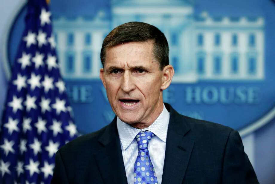 FILE- In this Feb. 1, 2017, file photo, then-National Security Adviser Michael Flynn speaks during the daily news briefing at the White House, in Washington. Flynn resigned as President Donald Trump's national security adviser on Feb. 13, 2017. (AP Photo/Carolyn Kaster, File) Photo: Carolyn Kaster, STF / Copyright 2017 The Associated Press. All rights reserved.