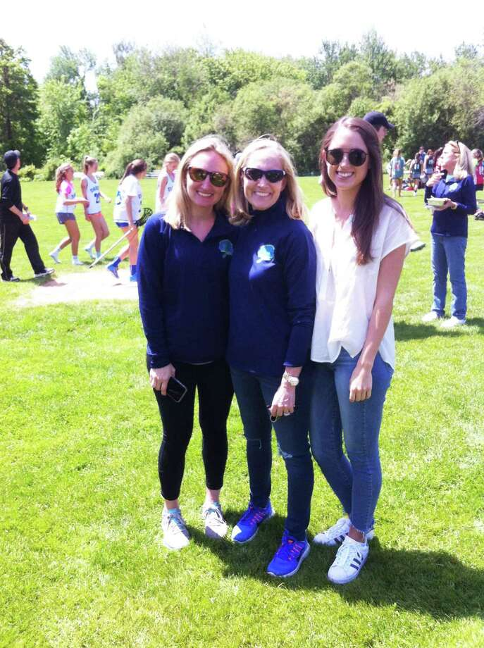 From left to right, Meghan Mara Ryan, Nancy Mara and Kelsey Mara attended the Katie Cassidy Higgins Memorial Lacrosse Tournament Sunday at Sacred Heart Greenwich. Nancy Mara was Katie's godmother. Photo: Contributed
