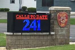 Ronald Cronin's problems at the Clifton Park Fire Department started over this sign. The chief was given $7,000 to deliver the sign, but it took a year to show up on the department's lawn.