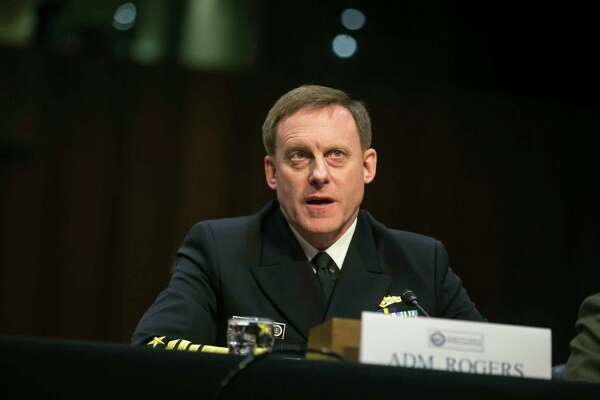 Adm. Michael Rogers, director of the National Security Agency, during a Senate Intelligence Committee hearing on worldwide threats in Washington, May 11, 2017. (Al Drago/The New York Times) ORG XMIT: XNYT172