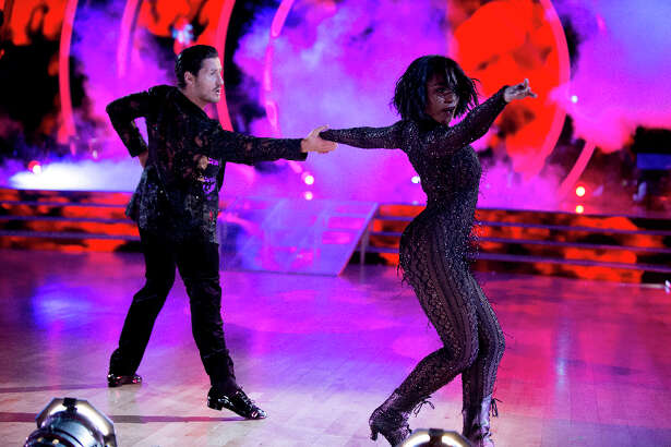 Normani Kordei on the Dancing with the Stars finale. She is a member from Fifth Harmony and moved to Pearland several years ago.