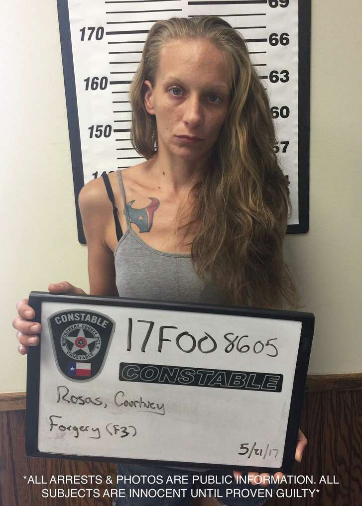 Courtney Rosas, 25, is charged with felony fraud in Montgomery County.